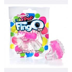 Dedo vibrador Color Pop Fing O tips Rosado