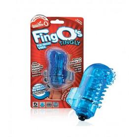 Dedo Vibrador Reutilizable Fing O Azul