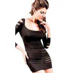 Vestido Negro Pasión Profunda